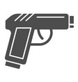 pistol solid icon gun vector image vector image