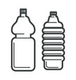 plastic bottles isolated icons mineral water vector image vector image