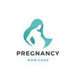 pregnancy pregnant woman maternal logo icon vector image vector image