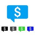 price message flat icon vector image
