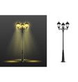 realistic street lights composition set vector image vector image