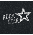 rock star on asphalt vector image