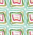 Rough brush green and red squares vector image vector image