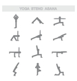 Set of icons Poses yoga asanas vector image vector image