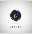 simple elegance initial letter o gold logo type vector image vector image
