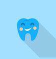 smiley tooth logo icon flat style vector image vector image