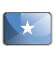 somalia flag on white background vector image
