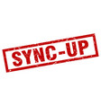 square grunge red sync-up stamp vector image vector image