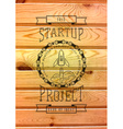 Startup project badges logos and labels for any vector image vector image