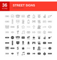 street line web glyph icons vector image vector image