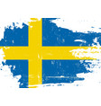 swedish scratched flag vector image vector image