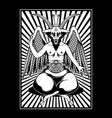 symbol baphomet logo vector image vector image