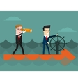 The team Business concept cartoon vector image vector image
