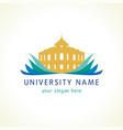 university logo vector image vector image