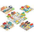 warehouse isometric concept with workers vector image vector image