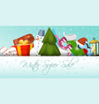 winter super sale banner vector image
