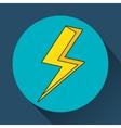 yellow bolt icon vector image