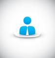 Businessman user icon vector image