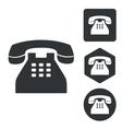 Telephone icon set monochrome vector image