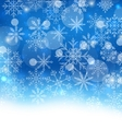 Winter Blue Background with Snowflakes vector image