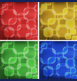 square shapes on four colors backgrounds vector image