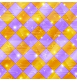 Abstract gold and lilac seamless plaid vector image vector image