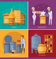 apiary honey production cartoon concept vector image