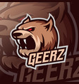 bear mascot esport logo vector image vector image