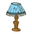 Blue Table Lamp Isolated on White Background vector image