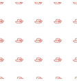 boat icon pattern seamless white background vector image vector image