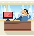 Boss in office vector image vector image