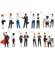 businessmen office people discussion talkking vector image