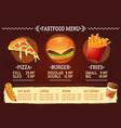 cartoon a design fast food vector image