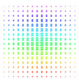 certificate seal icon halftone spectrum pattern vector image