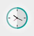 clock flat icon on a white background vector image