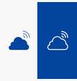 cloud rainbow sky spring weather line and glyph vector image