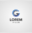 creative letter g gear auto logo concept design vector image vector image