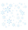 cute cartoon abstract snowflake vector image vector image