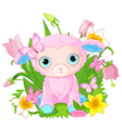 Cute cub sheep vector image vector image