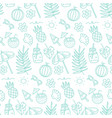 cute summer abstract linear pattern doodle vector image