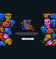 day dead cartoon skull landing page template vector image vector image