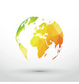 earth icon green yellow red gradient vector image
