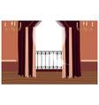 Elegant Balcony Interior vector image vector image