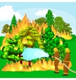 Firefighters in protective clothing and helmet vector image