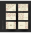 floral abstract brochure template Flyer vector image vector image