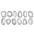 geometric frames polyhedrons luxury decorative vector image