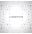 Geometric gray background molecule and vector image vector image