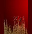 golden 2021 new year banner with copy space vector image vector image