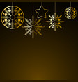 golden christmas decoration vector image vector image