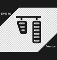 Grey car gas and brake pedals icon isolated